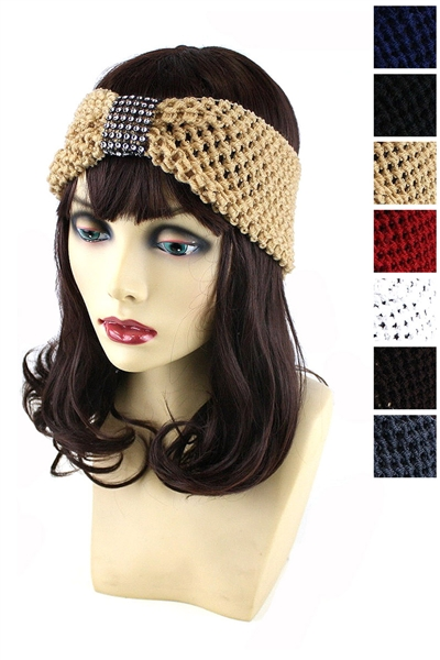 Dozen Assorted Color Fashion Knitted Headwrap