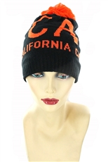Dozen Assorted Color CALIFORNIA Pom Pom Beanies