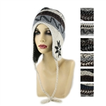 DZ Pack Assorted Color Earflap Beanie
