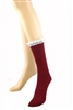 DZ Pack Assorted Color Lace Accent Boot Socks