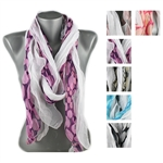 DZ Pack Assorted Color Multi Tone Polka Dot Print Scarves