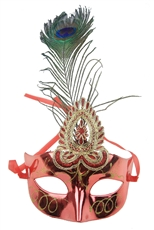 Dozen Assorted Color Peacock Mask