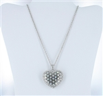 Crystal Heart Charm Necklace