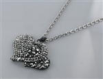 Crystal Double Heart Charm Necklace