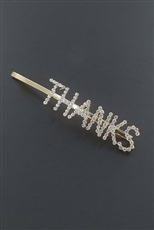 A Dozen Assorted Color Rhinestone Letter Hair Pin