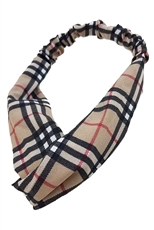 A Dozen Assorted Color Plaid Pattern Headwrap