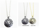 Dozen Lion Head Round Pendant Necklace