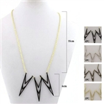 Dozen Assorted Color Geometric Necklace