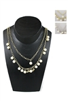 Dozen Gold/Silver Rhinestone and Pearl Layered Necklace