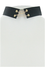 Dozen Black Corset Choker Necklace
