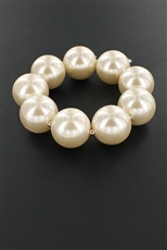 Chunky Big Pearl Stretch Bracelet