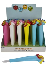 A Dozen Assorted Color 24-pc Scented Unicorn Squishy Pen Set