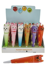 A Dozen Assorted Color 24-pc Scented Animal Squishy Pen Set