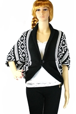 DZ Pack Assorted Color Tribal PatternKnit Bolero