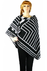 Tribal Pattern Knit Shawl