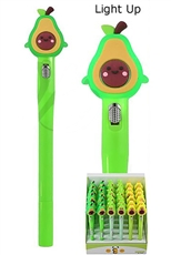 36-pc Light Up Avocado Pen Set