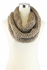 DZ Pack Assorted Color Sequin Accent Infinity Knit Scarves