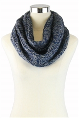DZ Pack Assorted Color Glitter Accent Infinity Knit Scarves