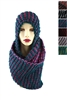 DZ Pack Assorted Color Hooded Infinity Scarves