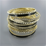 14pc Rhinestone/Enamel Stack Bangle
