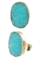 A Dozen Assorted Color Druzy Ring