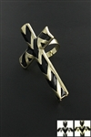 Dozen Gold/Silver Chevron Cross Ring