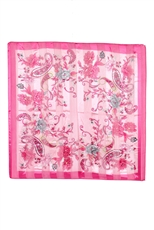 DZ Pack Assorted Color Silky Square Satin Scarves