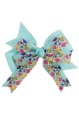 A Dozen Assorted Color Baby Shark Bow Hair Clip