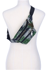 A Dozen Assorted Color Camouflage Fanny Pack