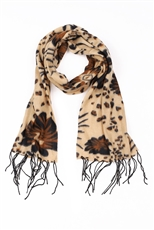 DZ Pack Assorted Color Multi Tone Floral Print Fashion Scarves
