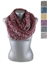 DZ Pack Assorted Color Knitted Infinity Scarves