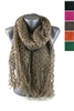 DZ Pack Assorted Color Knitted Scarves with Tassels