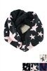 DZ Pack Assorted Color Star Print Infinity Scarves