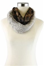 DZ Pack Assorted Color Animal Print Faux Fur Scarves