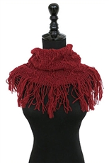 A Dozen Assorted Color Fringe Tunnel Scarves