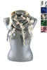 DZ Pack Assorted Color Knitted Convertible Infinity Scarves with Tassel