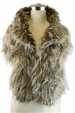 Faux Fur Collar Shawl