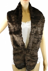 DZ Pack Assorted Color Faux Fur Collar Shawl