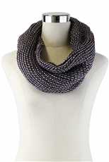 DZ Pack Assorted Color Knitted Infinity Wrap Scarves