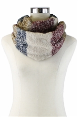 DZ Pack Assorted Color Multi Tone Mohair Infinity Scarves