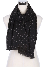 A Dozen Assorted Color Polka Dot Print Scarves