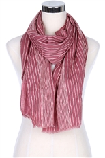 A Dozen Assorted Color Stripe Print Scarves