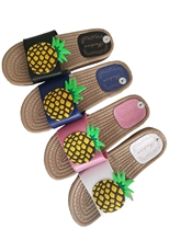 A Dozen Assorted Color Womens Fashion Slipper