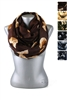 DZ Pack Assorted Color Heart Printed Infinity Scarves