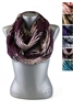 DZ Pack Assorted Color Two Tone Zebra Print Infinity Scarves