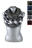 DZ Pack Assorted Color Checker Printed Infinity Scarves
