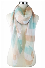 DZ Pack Assorted Color Multi Tone Chevron Print Fashion Scarves