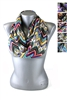 DZ Pack Assorted Color Multi Tone Chevron Print Infinity Scarves