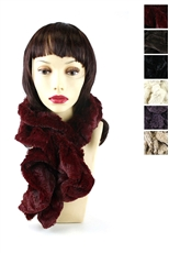 DZ Pack Assorted Color Faux Fur Elastic Scarves