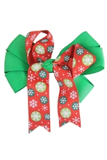 Dozen Christmas Theme Bow Hair Clip